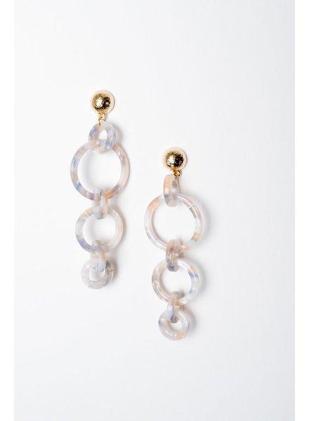 Trend Circle Linked Drop Earrings