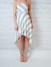 Maxi Strapless High Low Dress