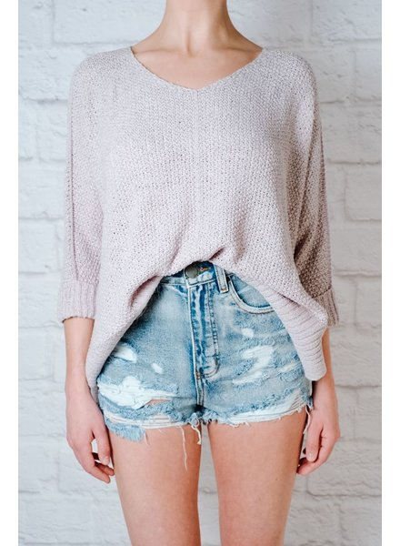Sweater Sky blue springtime knit