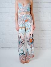 Pants Abstract Printed Slit Pant