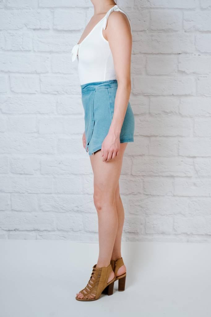 Shorts Medium Wash Denim Skort