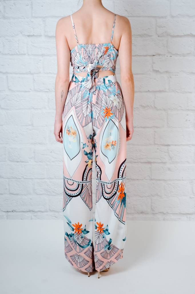 Pants Abstract Printed Slit Pant
