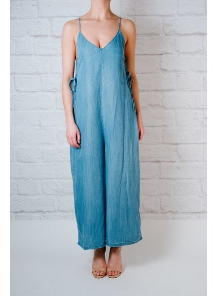 Casual Denim culotte jumpsuit