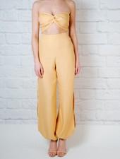 Jumpsuit Strapless Linen Jumpsuit