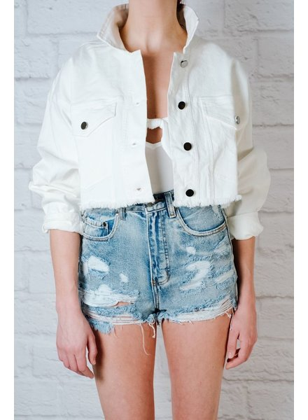 Blazer White Denim Jacket