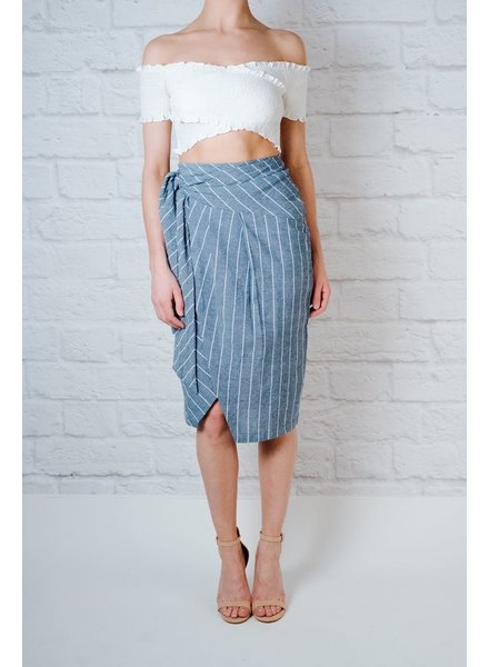 Skirt Striped Midi Skirt