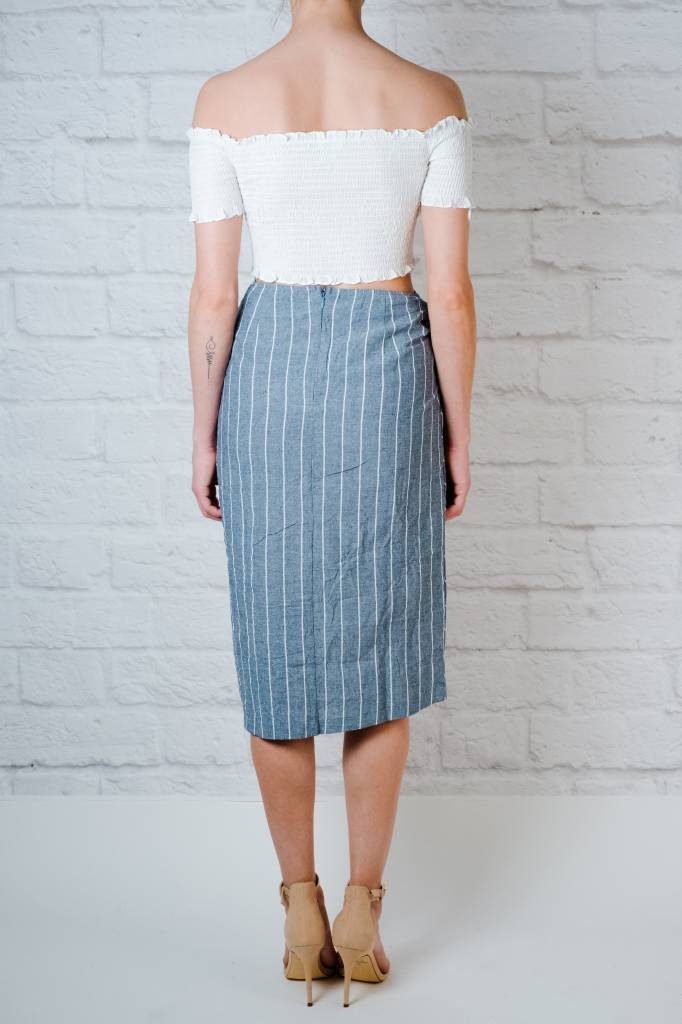 Skirt Striped Midi Skirt