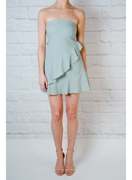 Mini Sage Ruffle Layered Mini