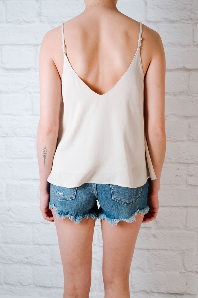 Tank Embroidered Button Front Tank