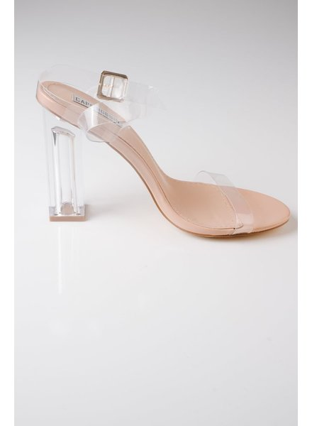 Pump Transparent Ankle Wrap Shoe