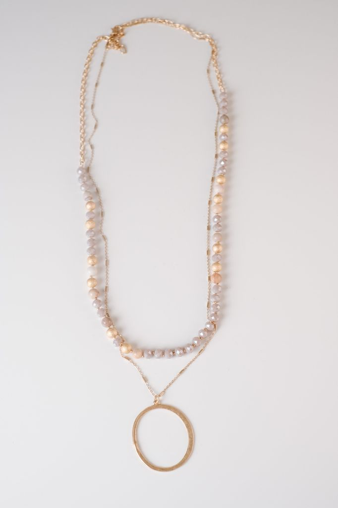 Trend Beaded O Necklace