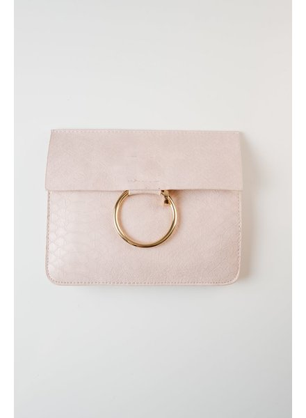 Cross-body Gold ring belt bag