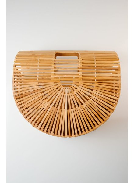 Handbag Wooden caged handbag