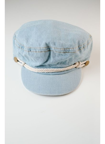 Hat Denim button cap