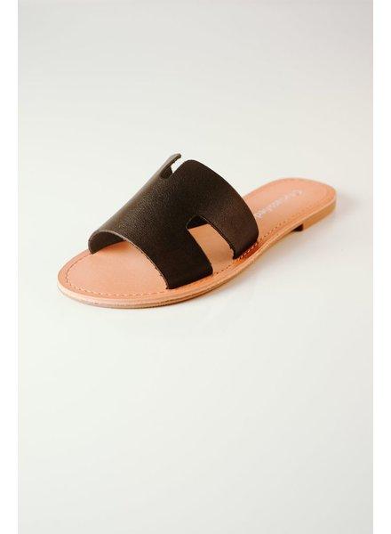Sandal Black Cut-Out Slide