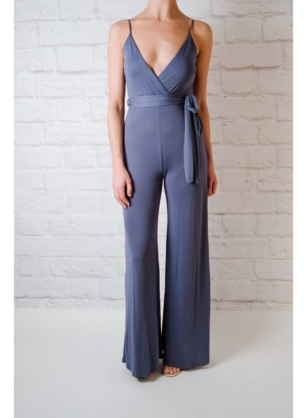 Jumpsuit Blue Jersey Jumpsuit