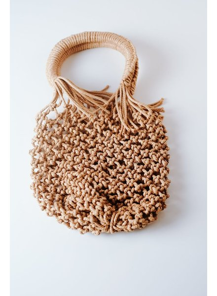 Clutch Mini woven satchel