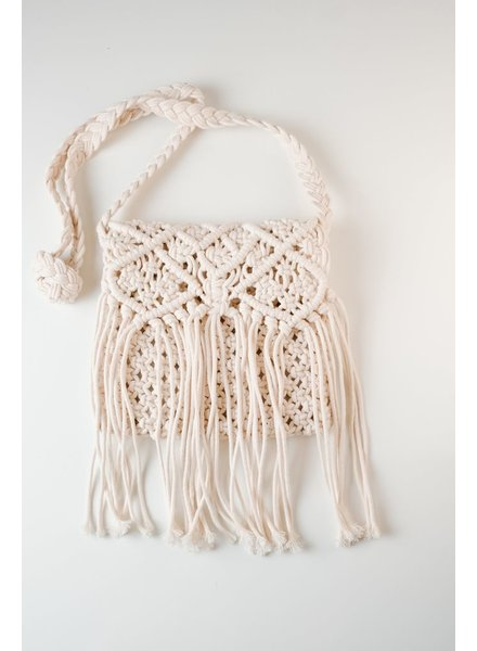 Cross-body Macrame cross body bag