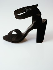 Pump Toe & Ankle Strap Block Heel