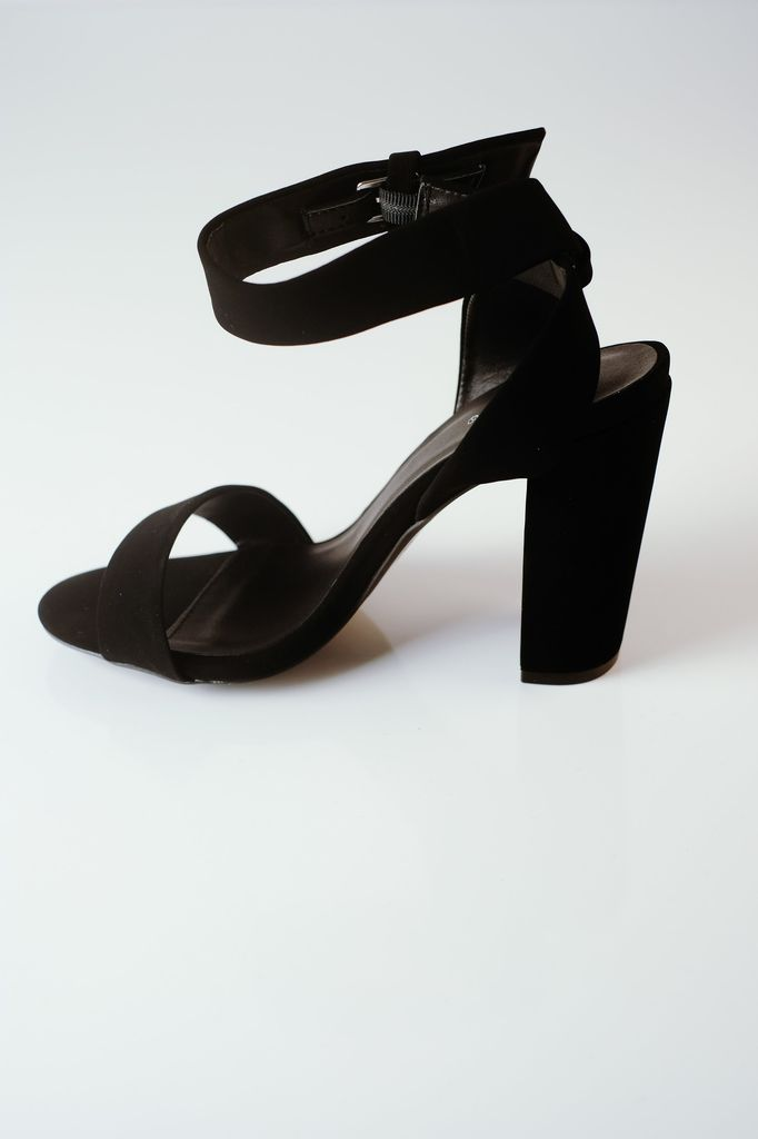 Pump Toe & Ankle Strap Block Heel