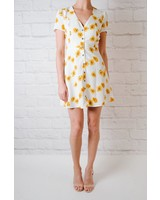 Mini Pansy Print Mini Dress