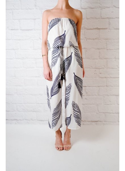 Jumpsuit Tropical Print Jumpsuit