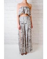 Pants Abstract High Slit Pant