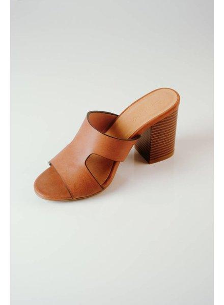 Sandal Chestnut Cut-Out Slide