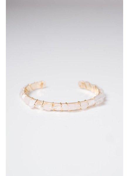 Trend White Stone bangle