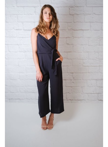 Jumpsuit Navy side tie jumpsuit