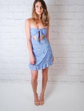 Mini Floral Strapless Dress