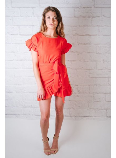 Mini Ruffle Sheath Dress