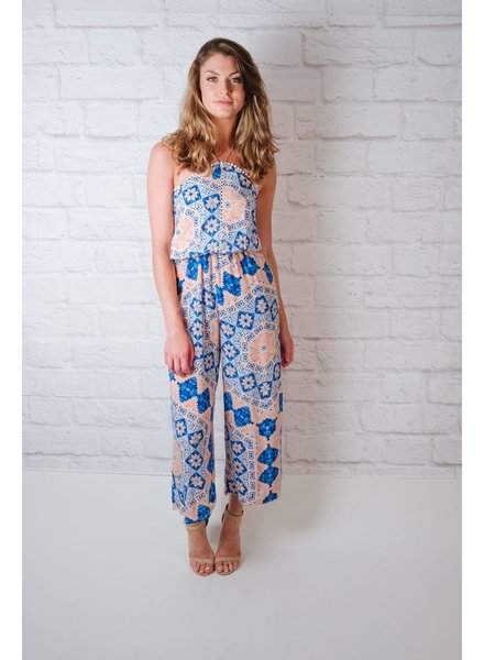 Jumpsuit Summer Cropped Jumpsuit