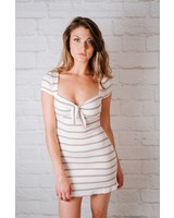 Mini Striped Ribbed Dress