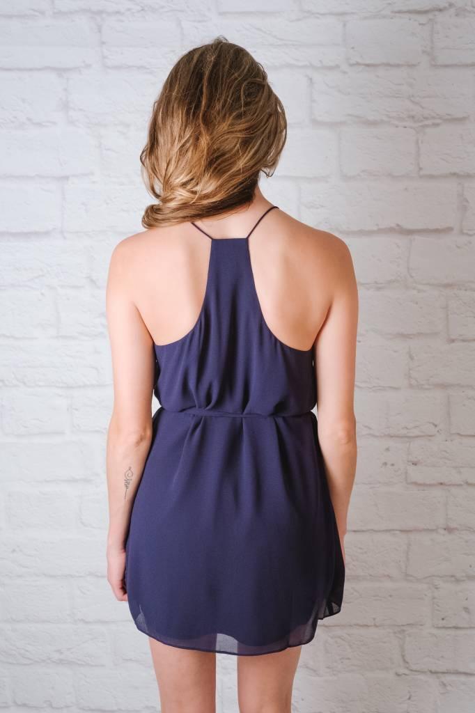 Mini Navy String Strap Dress