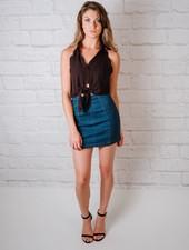 Skirt Aline Dark Denim Skirt