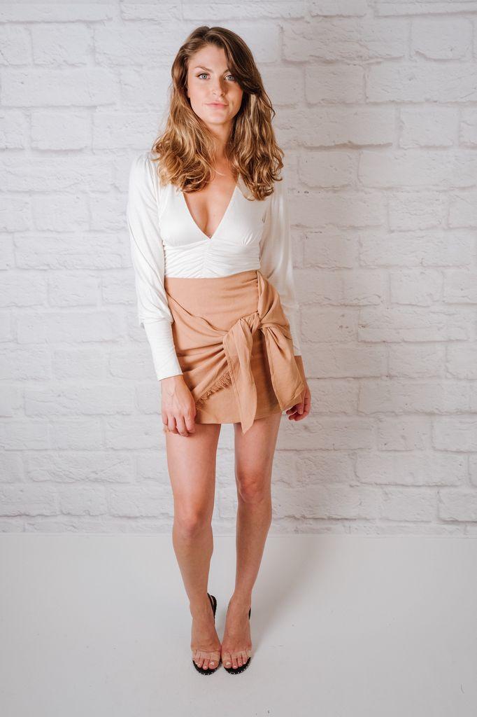 Skirt Fray Hem Skirt
