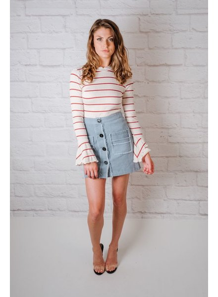 T-shirt Striped Smock Knit