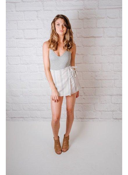 Skirt Neutral Striped Skort