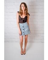 Skirt Fray Edged Linen Skirt