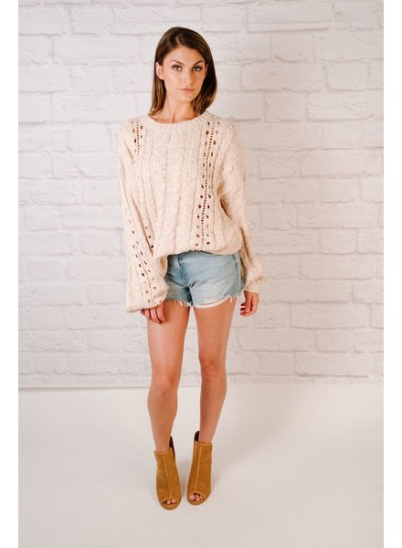 Knit Balloon Sleeve Sweater