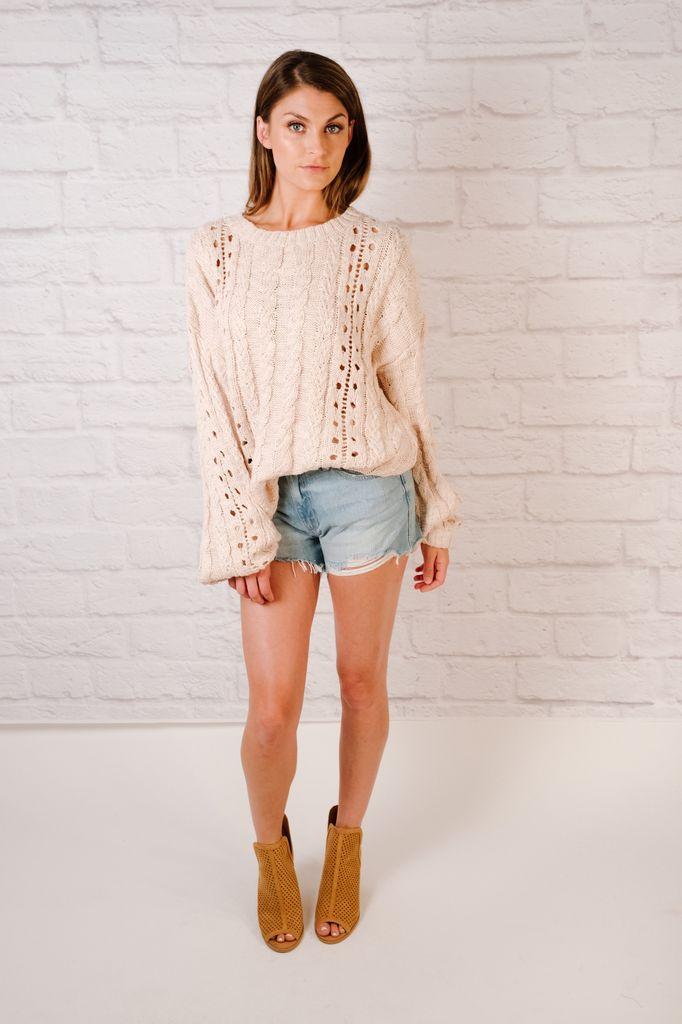 Knit Balloon Sleeve Sweater
