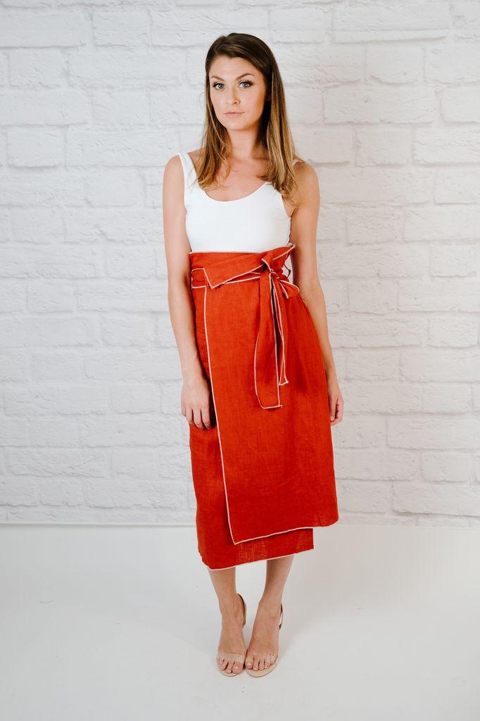 Skirt Brick Midi Skirt