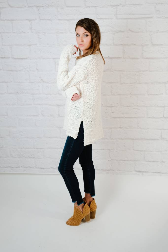 Sweater Ivory Popcorn Sweater