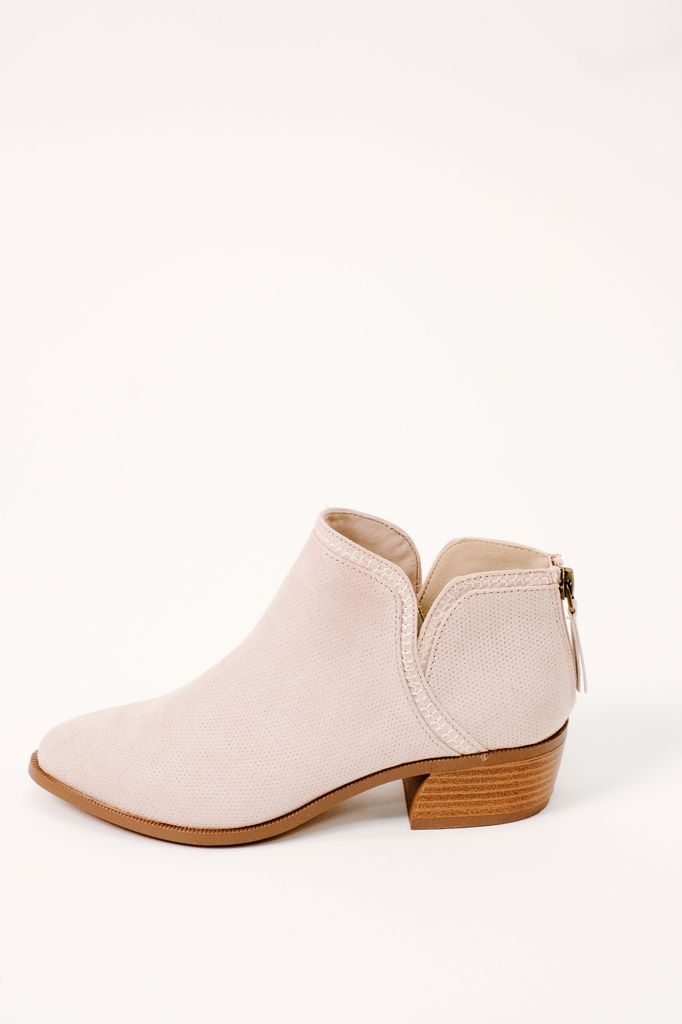 Bootie Oatmeal Perforated Bootie