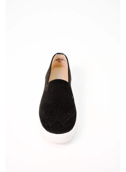 Flat Knit Fabric Slip On