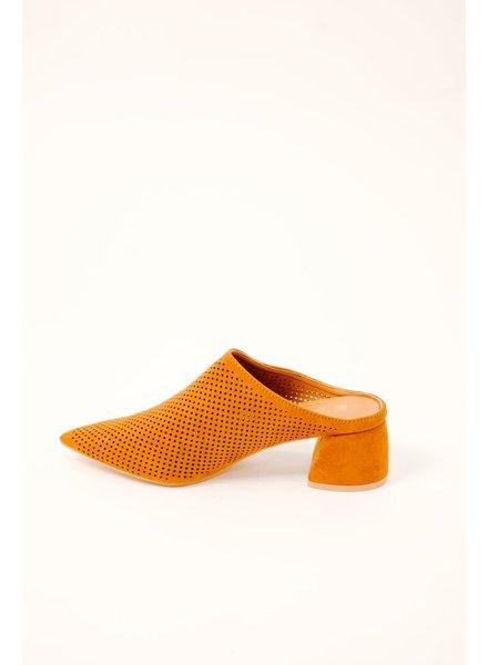 Bootie Rust Perforated Mule