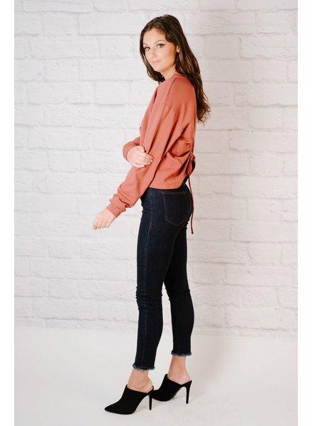 Sweatshirt Rose Ring Back Sweatshirt