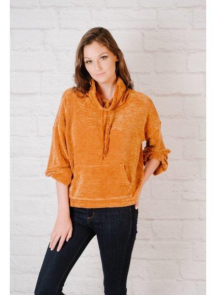 Sweatshirt Rust Chenille Sweatshirt