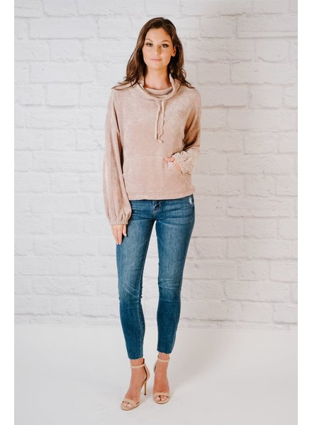 Sweatshirt Taupe Chenille Sweatshirt